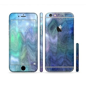 The Vivid Blue Sagging Painted Surface Sectioned Skin Series for the Apple iPhone 6 Plus