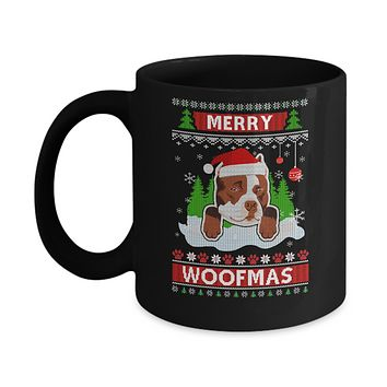Pitbull Merry Woofmas Ugly Christmas Sweater Mug