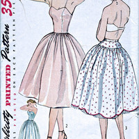 """1950's Petticoat and Slip - Vintage Sewing Pattern - Simplicity 3739 - Bust 32"""""""