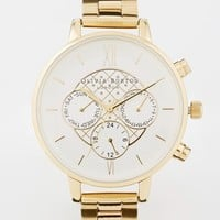 Olivia Burton Chrono Dial Gold Bracelet Watch
