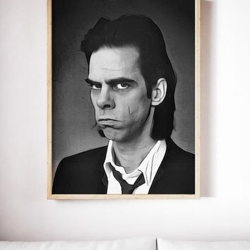 Nick Cave Poster Art Painting Print Canvas Print