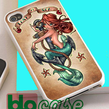 Tattooed Disney Princess Ariel The Little Mermaid For Iphone 4/4s, iPhone 5/5s, iPhone 5C, iphone 6, and iPhone 6 Plus Case