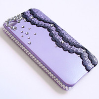 iPhone Case 4/4S - Lace & Rhinestone iPhone 4 Case