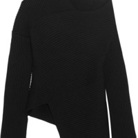 Joseph - Asymmetric ribbed merino wool sweater