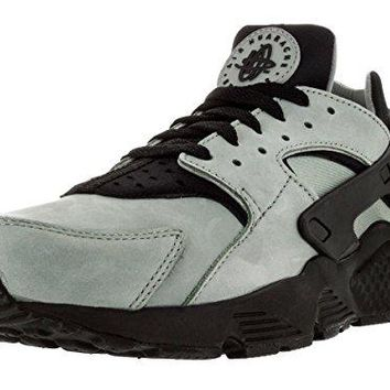 Nike Mens Air Huarache Run PRM Mica Green/Black Leather