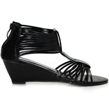 LF30501 New Sexy Strappy Gladiator Wedge EVE Sandals Shoes