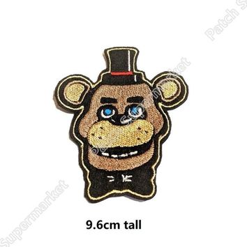 at Freddy Fazbear Patches  tv movie Embroidered Emblem applique badge for backpack party favor gift
