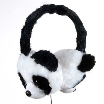 Happy Trails Plush Panda Bear On-Ear Headphones 80K-AP081O (White)