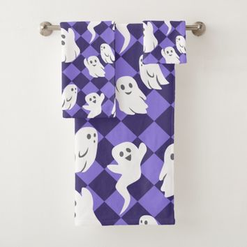 Halloween Ghosts Bath Towel Set