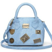 Casual Faux Denim Pattern Pu Crossbody Bag