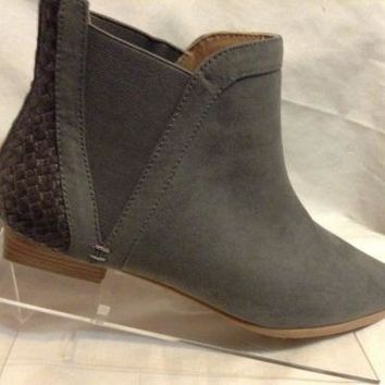 Plume by Farylrobin Slater Grey Ankle Boot Women's US Size 9.5 for anthropologie