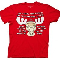 Christmas Vacation Moose Mug Red Adult T-shirt