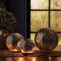 Twinkling Light Spheres - Silver