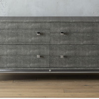 shagreen embossed low dresser