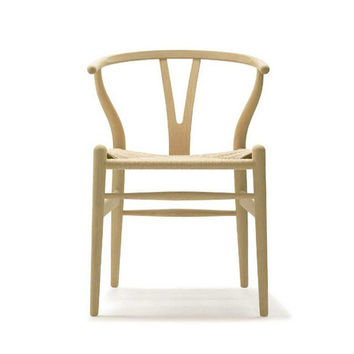 CH24 Wishbone Chair with Natural Cord Seat by Carl Hansen & Son