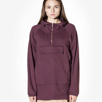 French Terry Anorak Pullover in Dark Oxblood: WMNS