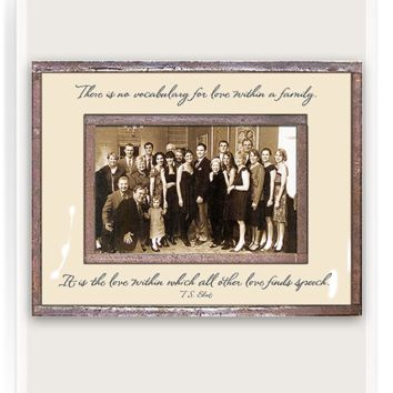 There Is No Vocabulary For Love Copper & Glass Photo Frame