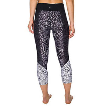 LEOPARD BLOCKED MESH INSET CROP LEGGING: Betsey Johnson