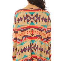 UNIF Poncho Desert in Brown Multi