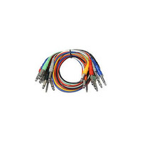 """Hosa: 8 Piece Patch Bay MONO Cables 1/4"""" (Male to Male), 3ft (CPP-890)"""