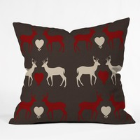 Natt Red Love Throw Pillow