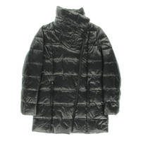 Kenneth Cole New York Womens Quilted Asymmetric Puffer Coat