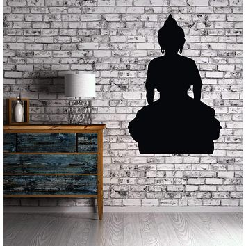 Wall Sticker Vinyl Decal Meditation Relaxation Stylization Buddha Magical East Deity Unique Gift (n010)