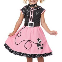 50's Poodle Cutie Toddler Costume | Oya Costumes