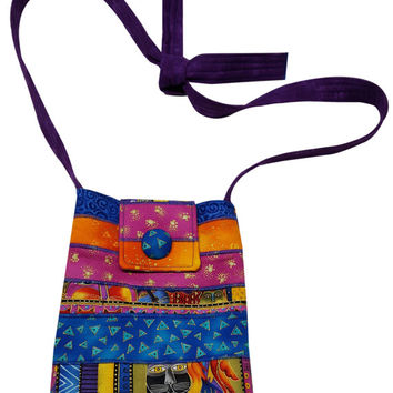 Cross Body Hip Purse in Pieces of Laurel Burch Cat Fabrics