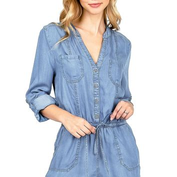 Riverside Chambray Romper