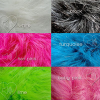 MADE TO ORDER Uv Glitter Hot Pink Fluffies Fuzzy Leg Warmers fluffy boot covers rave Gogo festival costume leggings