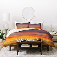 Shannon Clark Fire in the Sky Duvet Cover