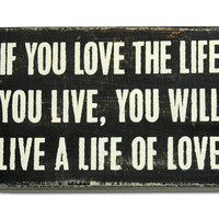 love the life wall art