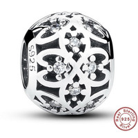 OPENWORK Bead / Charm 925 Sterling Silver Authentic fit Pandora Bracelet