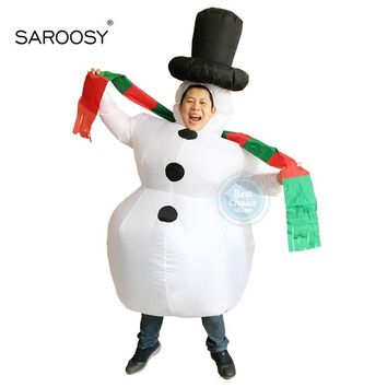 Cool SAROOSY New Christmas Snowman Inflatable Costumes Cosplay Costume for Adult Party Performance Service Inflated GarmentAT_93_12