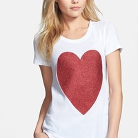 Wildfox 'Sparkle Heart' Crewneck Cotton Tee (Special Purchase) | Nordstrom