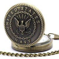 Bronze United States Navy Pocket Watch