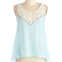 ModCloth Boho Short Length Sleeveless Tide by Side Top
