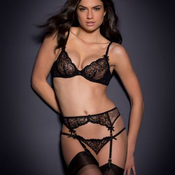 Laretta Suspender Black