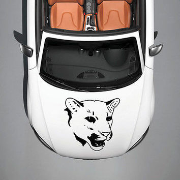 ANIMAL TIGER PREDATOR WILDCAT ART DESIGN  HOOD CAR VINYL STICKER DECALS SV1234
