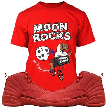 Jordan Retro 12 Gym Red Sneaker Tees Shirt to Match - MOONROCKS PG