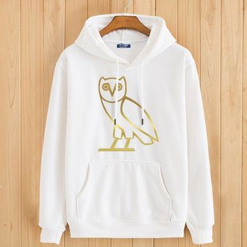 Men's Hoodies hooded Spring Gold Owl Streetwear