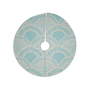"Suzie Tremel ""Heathered Scales"" Blue Tan Tree Skirt"