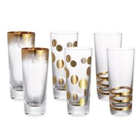 Fitz and Floyd® Assorted Shot Glasses in Gold (Set of 6)