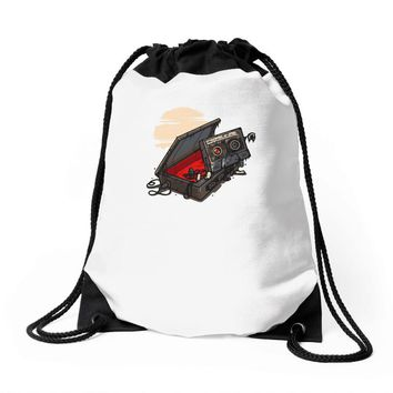 dead man walking Drawstring Bags