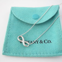 Tiffany & Co RARE Silver Infinity Necklace!
