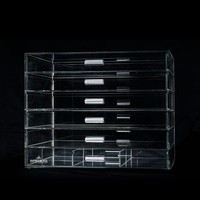 Impressions Vanity Clear Acrylic Makeup Organizer with Drawers