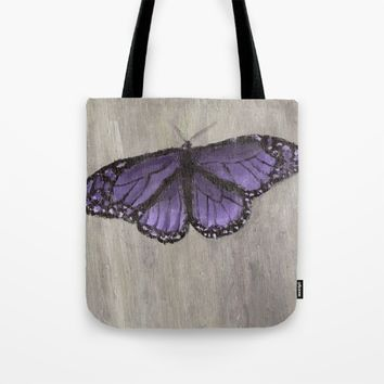 The Purple Butterfly Tote Bag by Lindsay