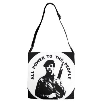 Huey Newton All Power to the People Adjustable Strap Tote