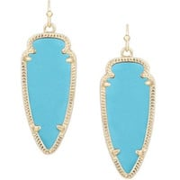 Kendra Scott Sky Earrings In Gold Turquoise
